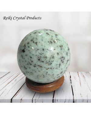 Kiwi Moonstone Ball / Sphere for Reiki Healing / Grid and Vastu Correction