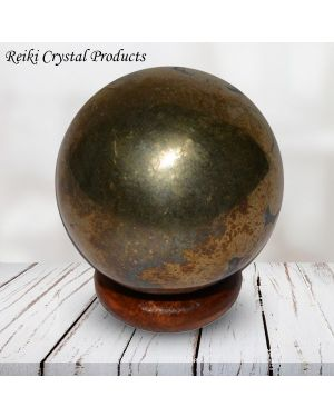 Pyrite Ball / Sphere Ball / Sphere for Reiki Healing / Grid and Vastu Correction