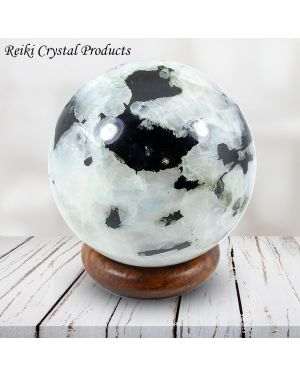 Rainbow Moonstone Ball / Sphere Ball / Sphere for Reiki Healing / Grid and Vastu Correction