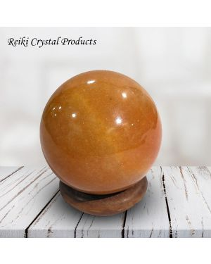 Red Aventurine Ball / Sphere for Reiki Healing / Grid and Vastu Correction