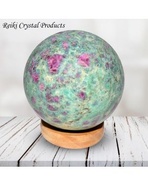 Ruby Fuchsite Ball / Sphere for Reiki Healing / Grid and Vastu Correction