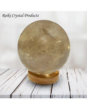 Smoky Quartz Ball / Sphere for Reiki Healing / Grid and Vastu Correction