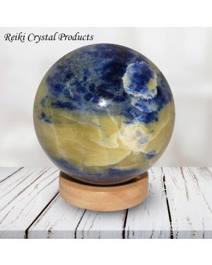 Sodalite Ball / Sphere for Reiki Healing / Grid and Vastu Correction