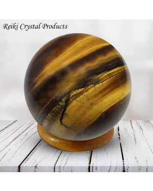Tiger Eye  Ball / Sphere for Reiki Healing - Grid and Vastu Correction