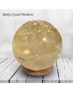 Yellow Calcite Ball / Sphere for Reiki Healing - Grid and Vastu Correction