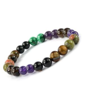 Protection from Black Magic Combination 8 mm Bead Bracelet Charged by Reiki Grand Master & Vastu Expert Dr. Amritpal Singh