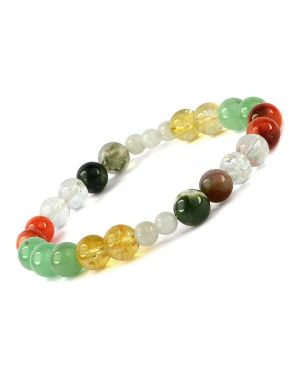 Renal Combination 8 mm Bead Bracelet Charged by Reiki Grand Master & Vastu Expert Dr. Amritpal Singh