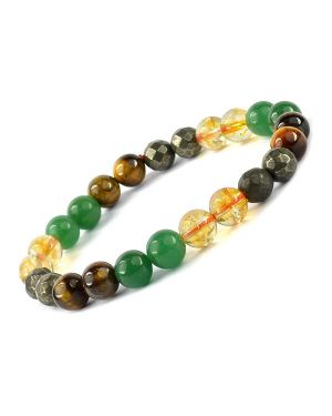 Wealth Combination 8 mm Bead Bracelet energized by Reiki Grand Master