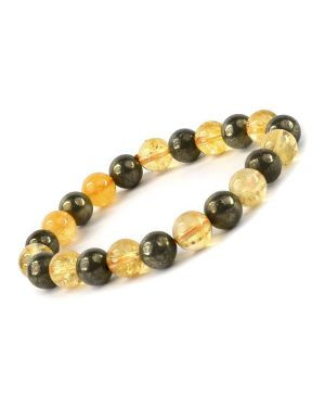 Will Power Combination 8 mm Bead Bracelet Charged by Reiki Grand Master & Vastu Expert Dr. Amritpal Singh