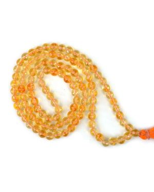 Citrine Faceted 6 mm 108 Bead Mala