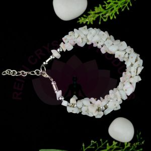 White Agate  Chip Bracelet