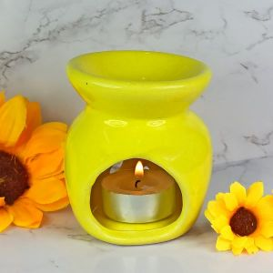 Ceramic Tea Light Candle Aroma Oil Burner/Diffuser with 2 pc Candle