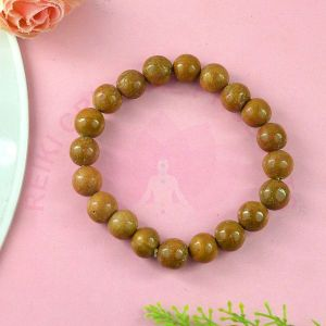 Yellow Jasper 8 mm Round Bead Bracelet