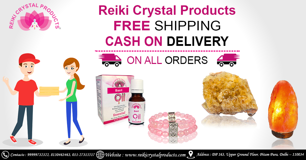 Cash On Delivery & Free Shipping Service at Reiki Crystal Products